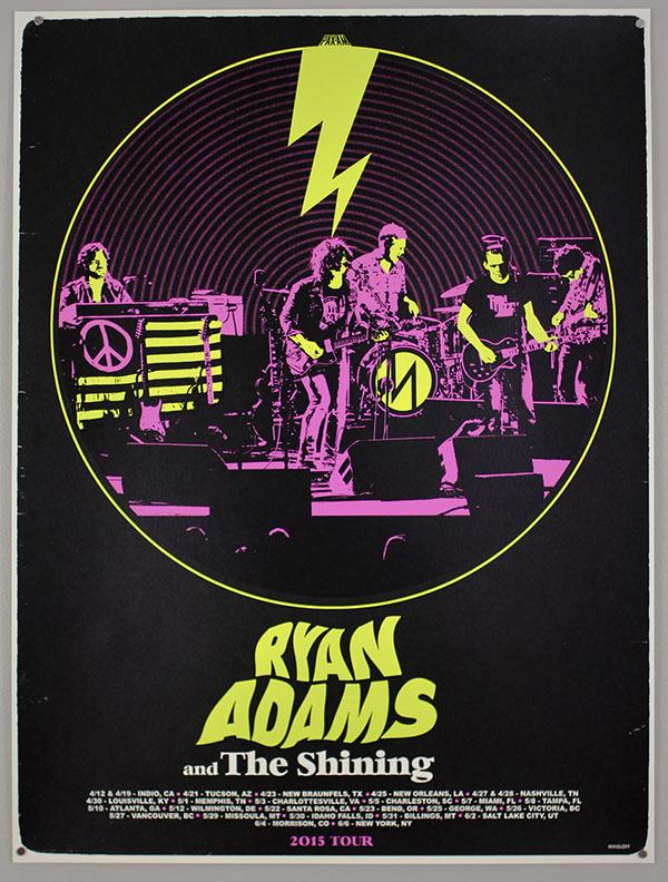 Mega Gallery Of Ryan Adams Gigposters By Ivan Minsloff On