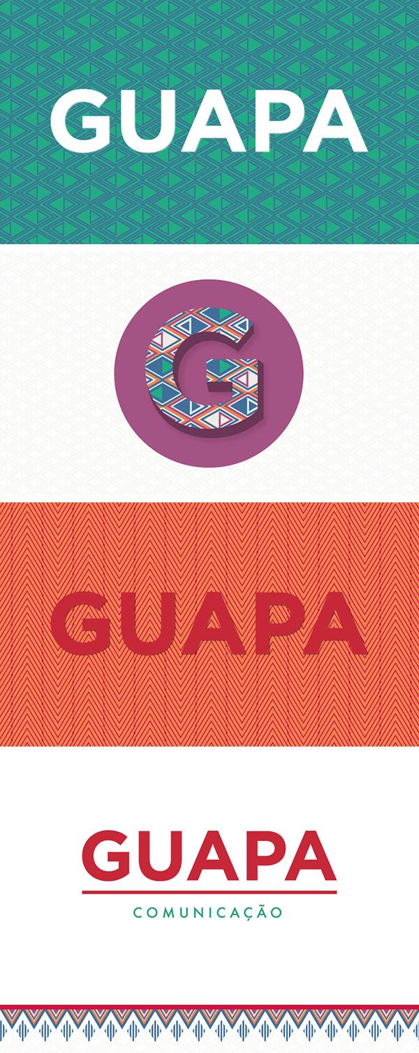 logo brand guapa colorful pattern imprensa moda gastronomia