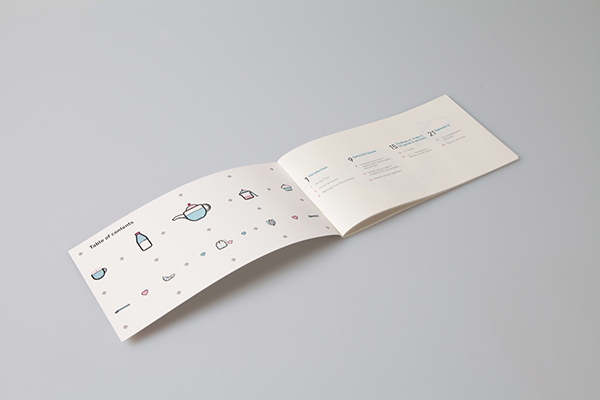 tea annual report Layout cup creative Unique consistent book icons