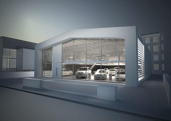 Car Showroom Hangar On Behance