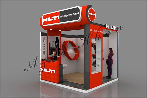 Outdoor Exhibition Stall : Hilti stall design on behance