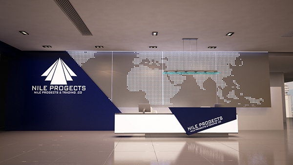 Exhibition Stand Designer Jobs In Dubai : Company reception counter design on behance