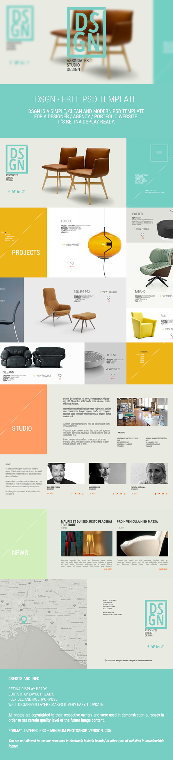 PSD Template On Behance