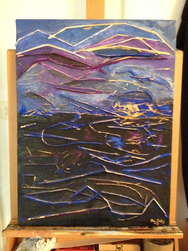 mixed media fine art acryl akryl