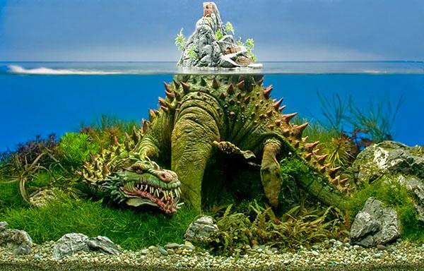 Затонувший корабль в аквариум