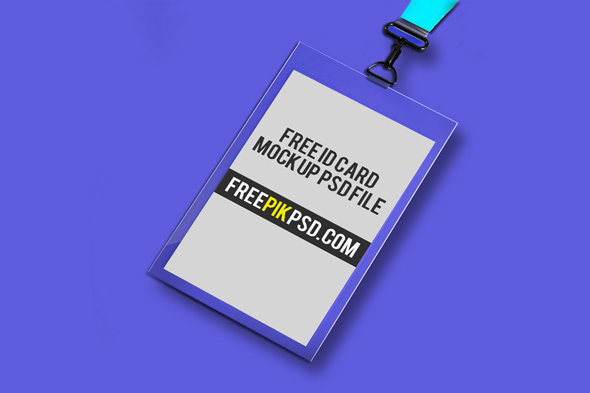 free id card holder mockup psd on behance