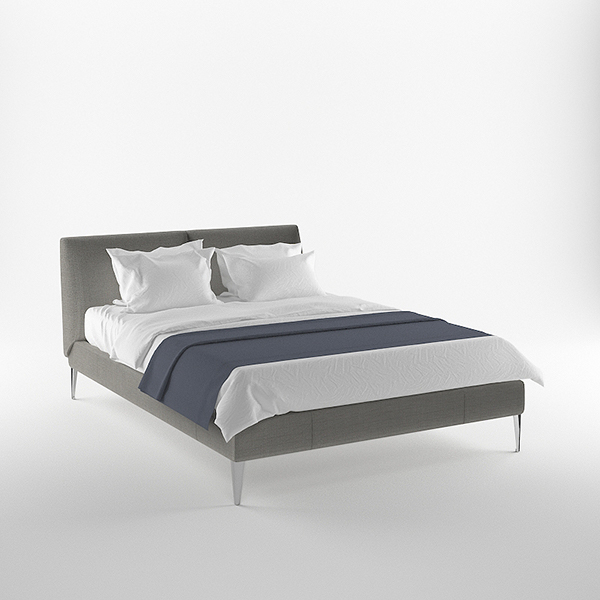 Free 3d model b b italia selene bed on behance for B and b italia beds