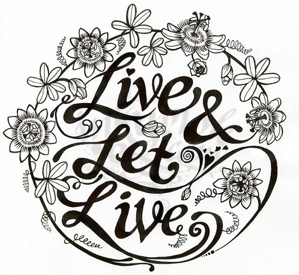 Live Let Live Tattoo On Behance