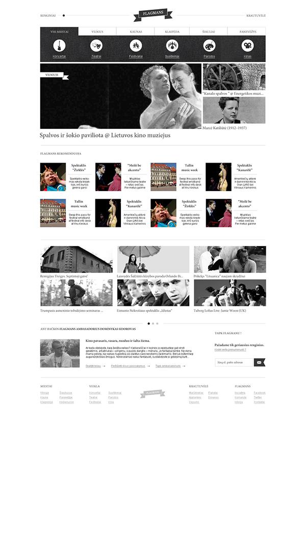 design portal community shop Events Guide alternative minimal black and white elegant