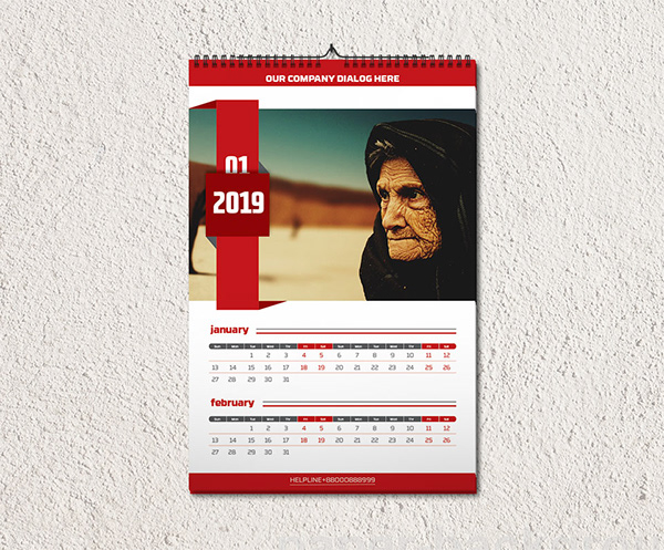 Wall Calendar Template On Student Show