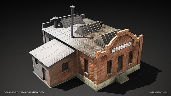 wwii rts game lowpoly building 3d models on behance. Black Bedroom Furniture Sets. Home Design Ideas