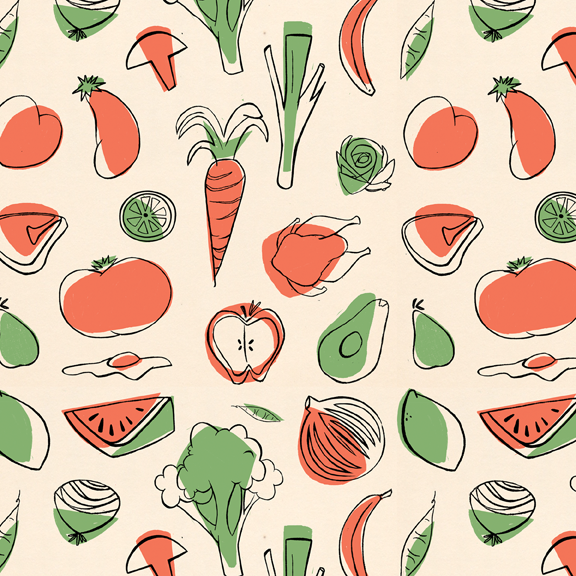 Vegetable pattern - photo#1