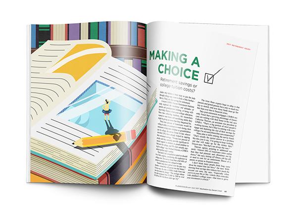 Making A Choice (Editorial Illustration) on SCAD Portfolios