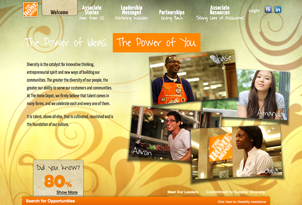 Diversity Microsite Home Depot Careers On Behance