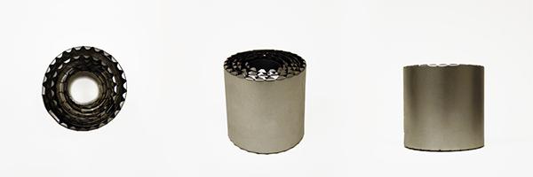 metal steel Tinplate Collapsible telescopic Metalworking cylinder surprise toy tableware extendable interactive matthew lim Fun metallic