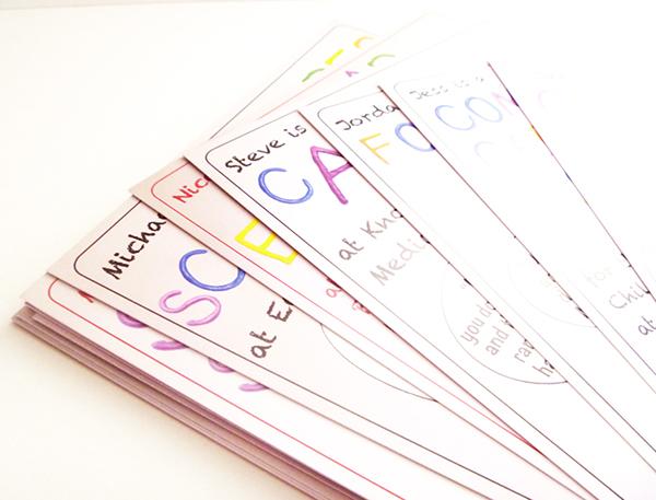 job cards graphic design in schools on behance