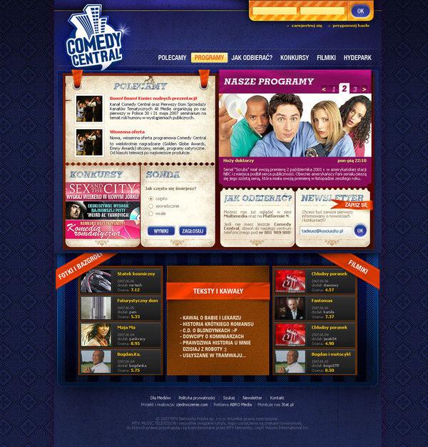 comedy central Webdesign Website design Web  entertainment  tv