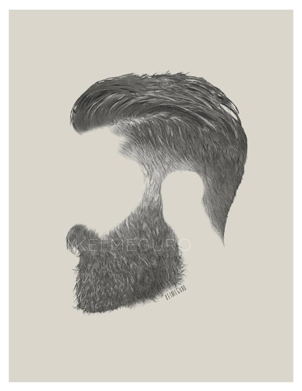 portrait beard hair mens fashion dapper face