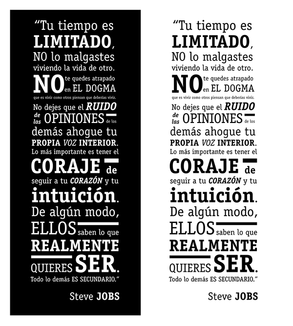 Dise o frase steve jobs on behance for Diseno de interiores frases