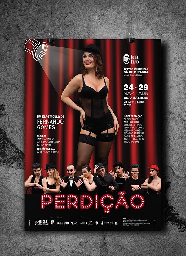 Adobe Portfolio teatro poster Melânia Gomes viana do castelo Portugal