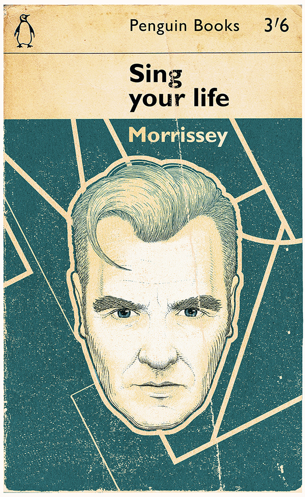 Penguin Book Cover Vector : Morrissey covers on behance