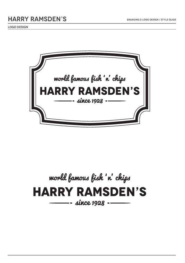 Harry Ramsdens fish & chips Blackpool british fish chips fishing menu Re brand