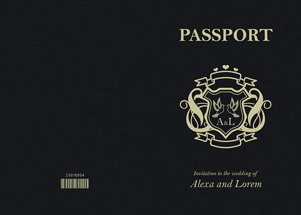 passport wedding program template - passport wedding invitation save the date on behance