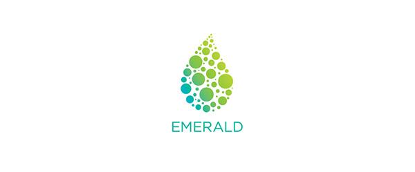 emerald water logo visual identity on behance
