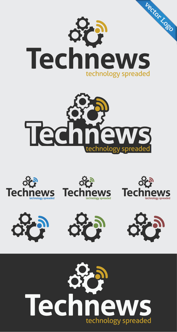 Tech News Technology Spreaded Logo Template on Behance