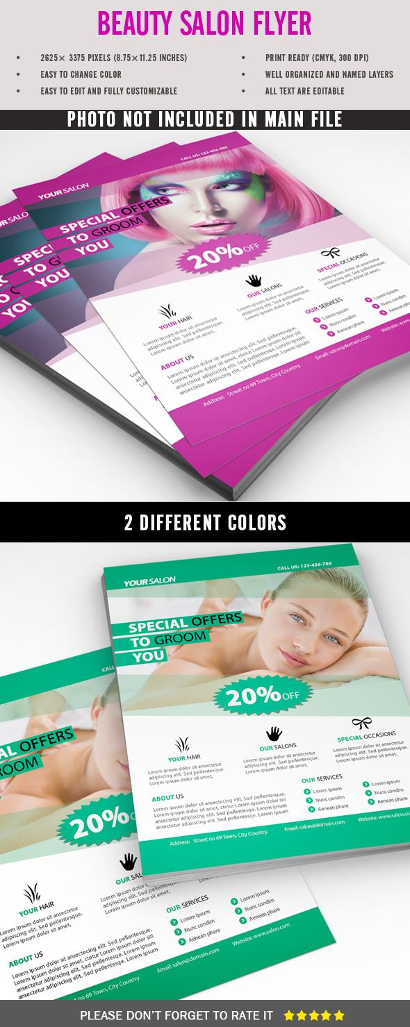 beauty salon flyer on behance