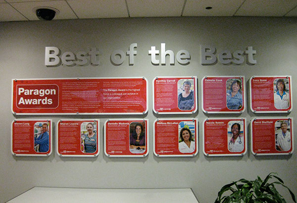 environmental graphics  corporate signage cvs  caremark on
