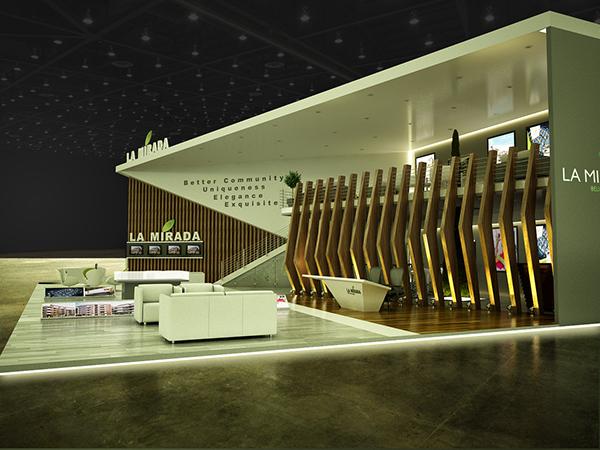 Corner Exhibition Stands Day : Exhibition design la mirada booth cityscape cairo on