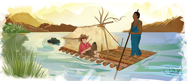 Gallery For > Huckleberry Finn Raft Project