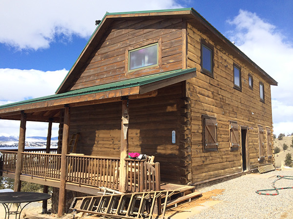 Log home restoration and log maintenance park county co on for Log cabin restoration
