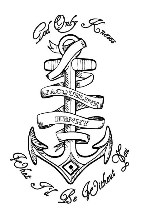 Anchor Line Drawings Anchor Tattoo