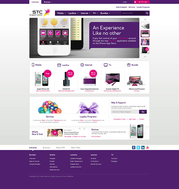 Stc home page