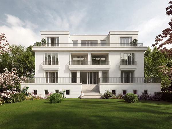 Villa Dahlem architectural visual villa podbielskiallee on behance