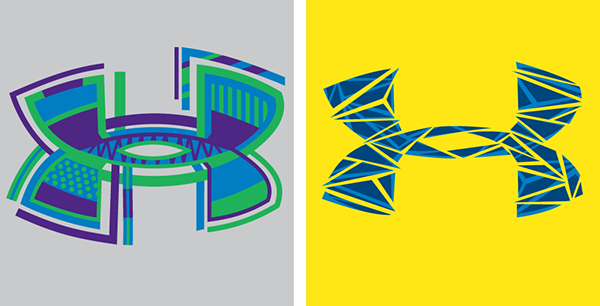 Under Armour Logo Exploration On Pantone Canvas Gallery
