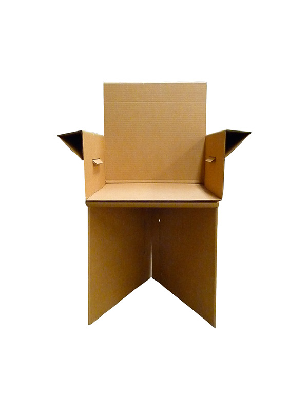 Cardboard Chair Design That Holds A Lot Of Weight