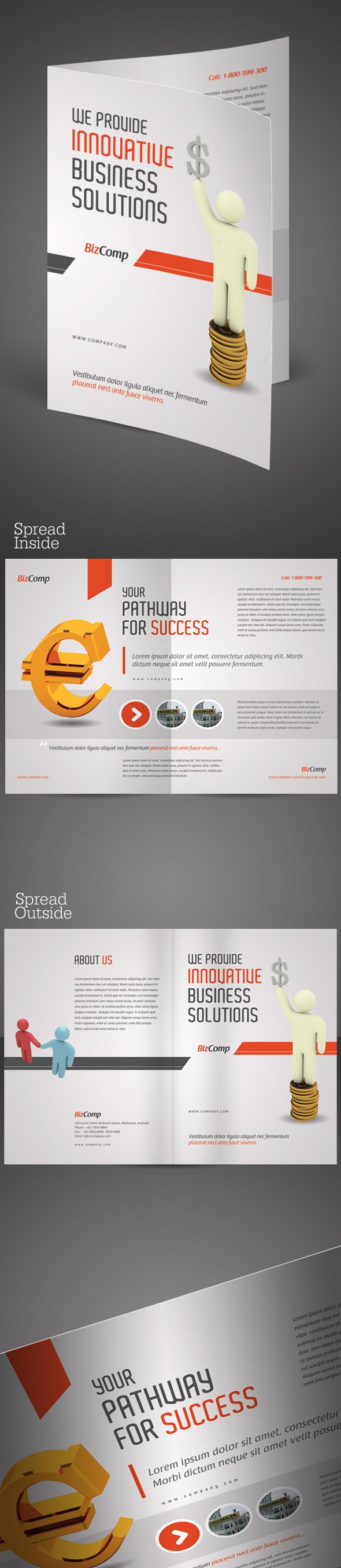 A Halffold Brochure Template On Behance - Half fold brochure template word