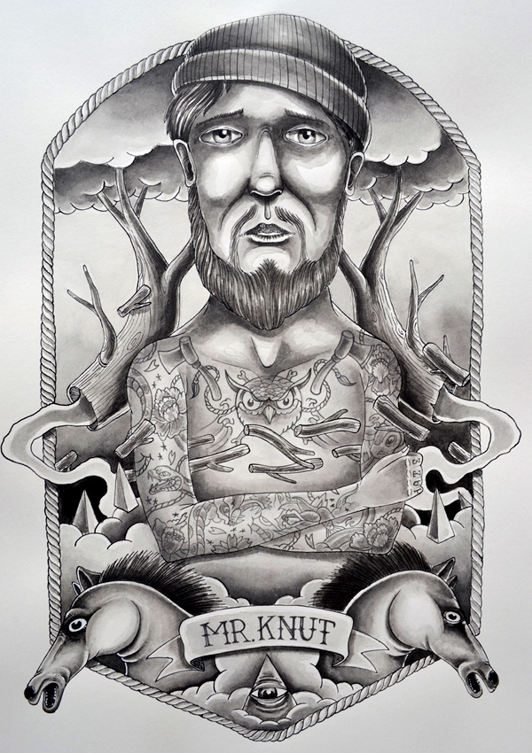 streetart ink paper black grey White tattoo oldstyle Classic