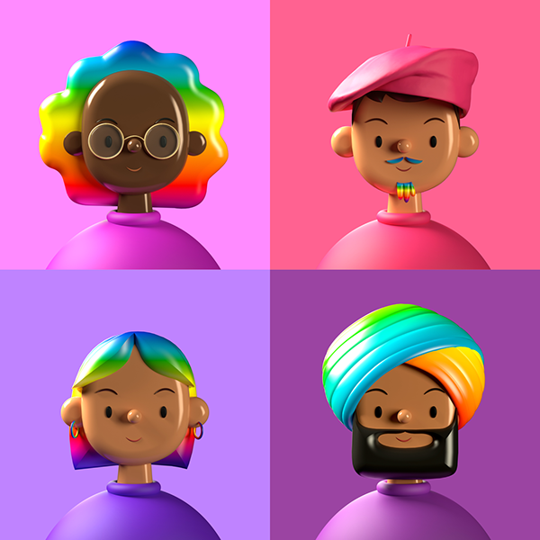 Toy Faces Library — Celebrates Pride Month