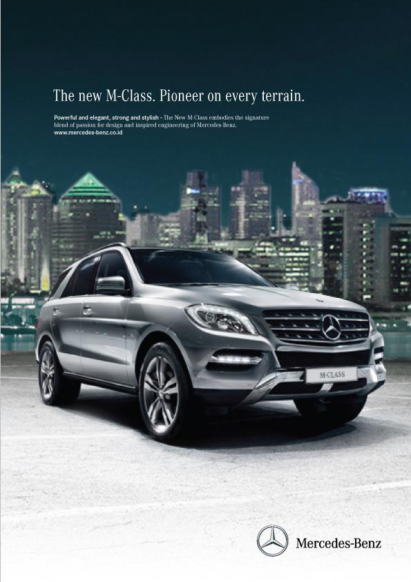 Mercedes benz m class magazine ads on behance for Mercedes benz ad