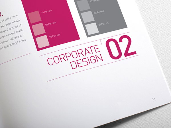 Corporate Design Manual Guide 28 Pages on Behance
