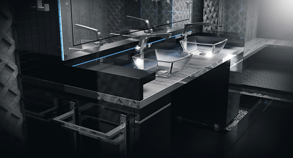Interior design furniture industrial visualization