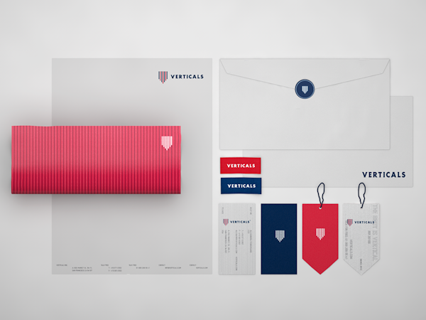 Clothing  apparel stripes  shirts bags tags Business Cards  letterhead  Packaging  red Classic identity logo visual identity