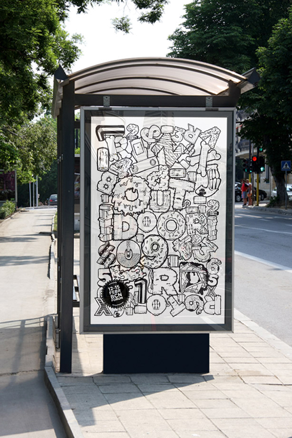 lettering black and white Urban art