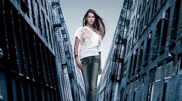 levis New York jeans Vincent Peters Triangles warm cool