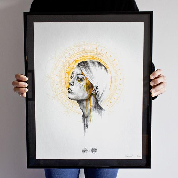 collab Mandala death women realistic portrait flower skull heartbreaker Sadness ora