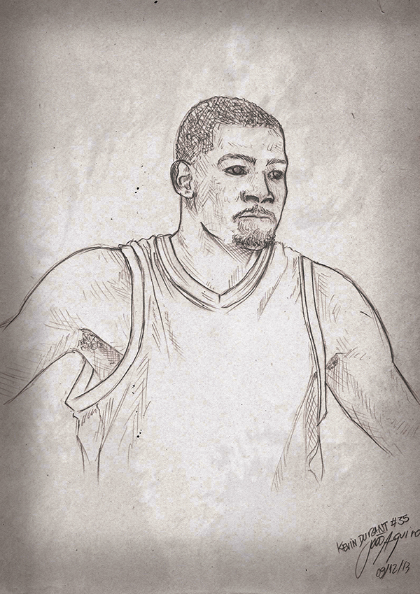 Kevin Durant Drawing Kevin Durant Digital Art on